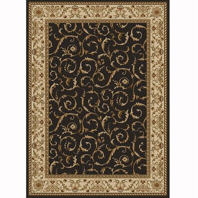Colebrook Brown Area Rug Rug Size: Rectangle 55 x 77