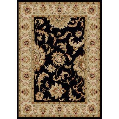 Colebrook Black Area Rug Rug Size: 910 x 1210