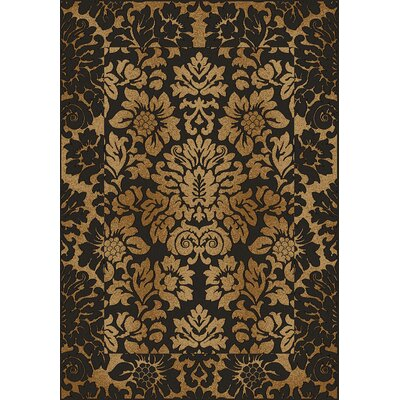 Colebrook Brown/Gold Area Rug Rug Size: 910 x 1210