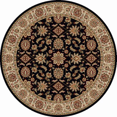 Northgate Black Area Rug Rug Size: Round 53