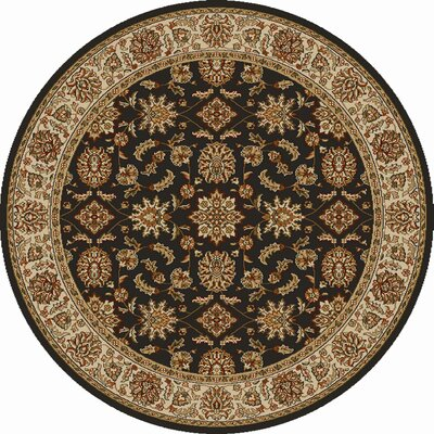 Colebrook Brown Area Rug Rug Size: Round 53
