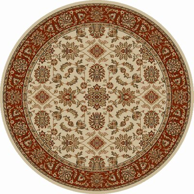 Colebrook Ivory/Brick Area Rug Rug Size: Rectangle 79 x 11