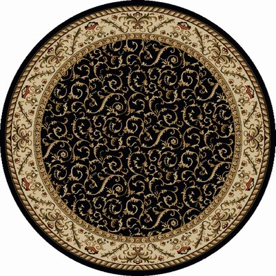 Weisgerber Black Area Rug Rug Size: Round 53