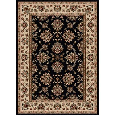 Stamford Black Area Rug Rug Size: 79 x 11