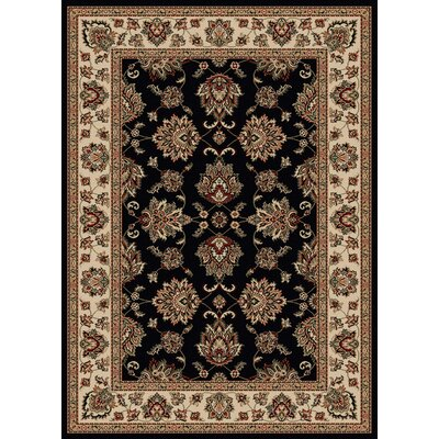 Stamford Black Area Rug Rug Size: 33 x 411
