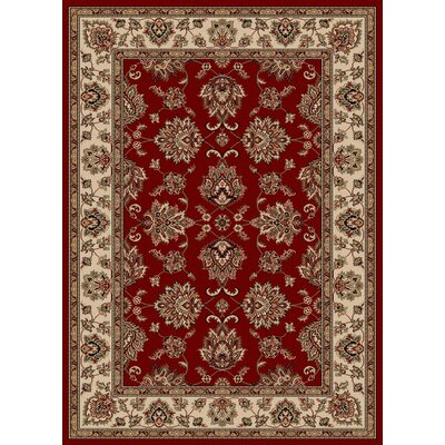 Stamford Red Area Rug Rug Size: 55 x 77