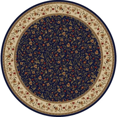 Colebrook Navy Area Rug Rug Size: Round 8