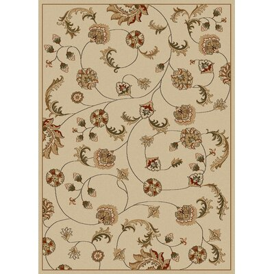 Colebrook Ivory Area Rug Rug Size: Rectangle 55 x 77
