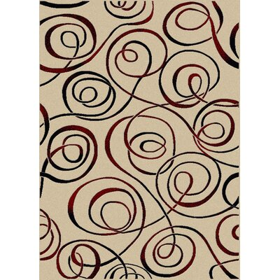 Nakedra Ivory Area Rug Color: Ivory, Rug Size: Runner 22 x 77