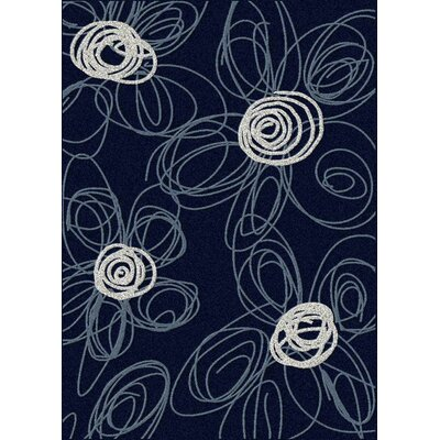 Addison Navy/Pearl Indoor/Outdoor Area Rug Color: Navy / Pearl, Rug Size: 55 x 77