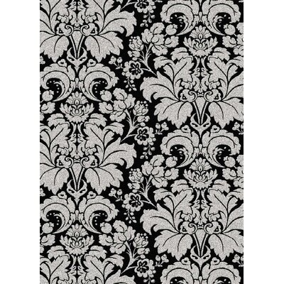 Addison Black/Silver Area Rug Rug Size: Rectangle 55 x 77