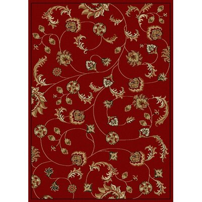 Colebrook Area Rug Color: Red, Rug Size: 55 x 77