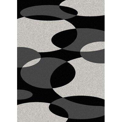 Addison Black/Silver Area Rug Rug Size: 33 x 411