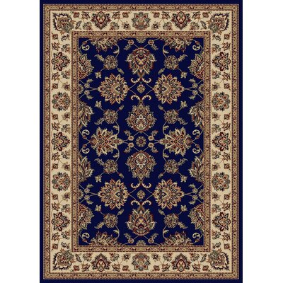 Stamford Navy Area Rug Color: Navy, Rug Size: 55 x 77