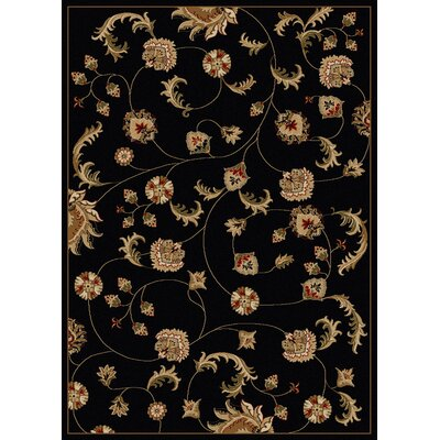 Colebrook Black Area Rug Color: Black, Rug Size: 55 x 77