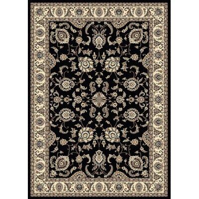Windsor Black Area Rug Rug Size: 910 x 1210