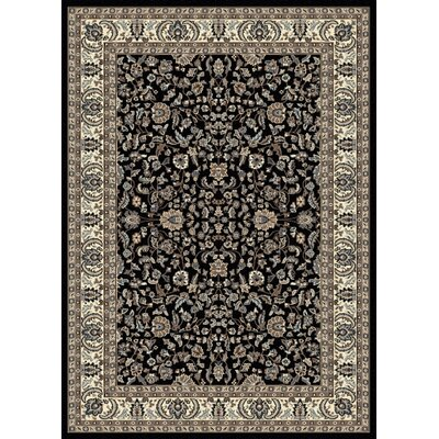 Weiser Black Oriental Area Rug Rug Size: Rectangle 33 x 411