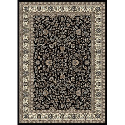 Weiser Black Oriental Area Rug Rug Size: Rectangle 79 x 11