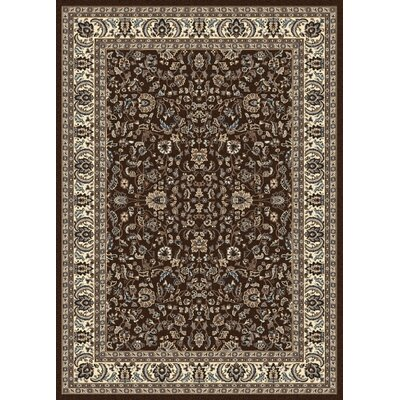 Weiser Brown Oriental Area Rug Rug Size: Rectangle 55 x 77