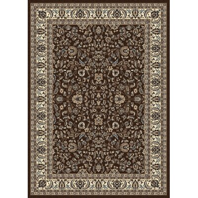 Weiser Brown Oriental Area Rug Rug Size: Rectangle 910 x 1210