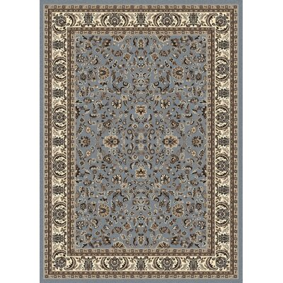 Windsor Blue Area Rug Rug Size: 55 x 77