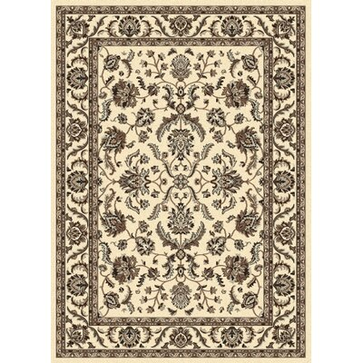 Weiser Traditional Ivory Area Rug Rug Size: 55 x 77