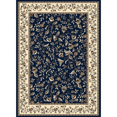 Windsor Dark Blue Area Rug Rug Size: 910 x 1210