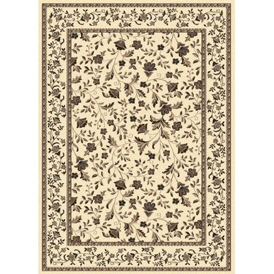 Weiser Rectangle Ivory Area Rug Rug Size: Rectangle 55 x 77