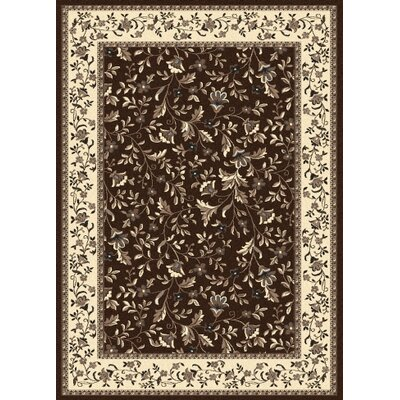 Windsor Brown Area Rug Rug Size: 55 x 77