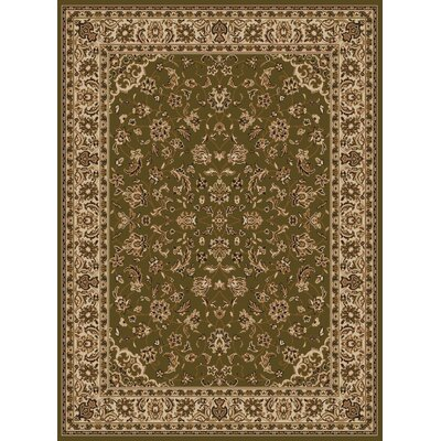 Colebrook Green Area Rug Rug Size: 55 x 77
