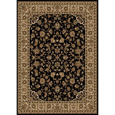 Colebrook Black Area Rug Rug Size: Rectangle 910 x 1210