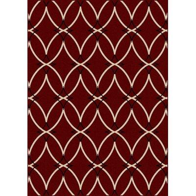 Hampton Red Area Rug Rug Size: 79 x 11
