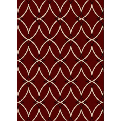 Hampton Red Area Rug Rug Size: 33 x 411