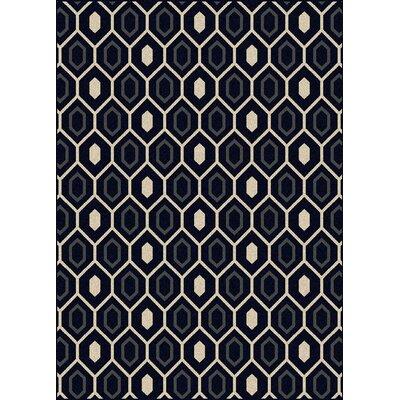 Hampton Black/Cream Area Rug Rug Size: 79 x 11