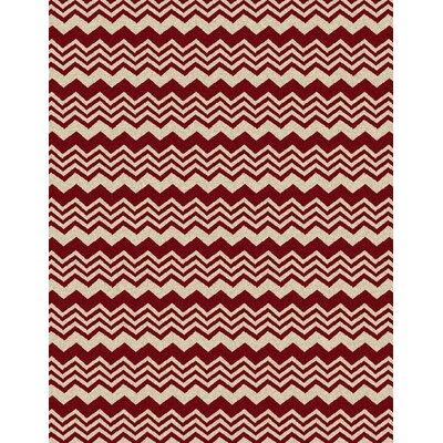 Hampton Red Area Rug Rug Size: 33 x 411