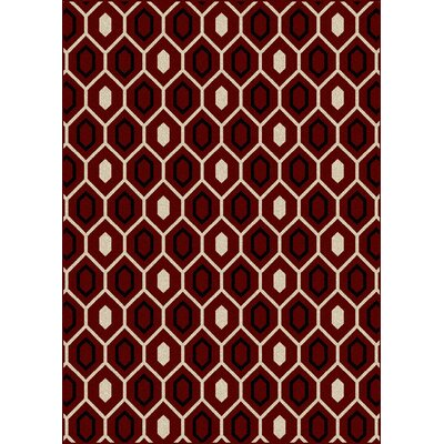 Hampton Red Area Rug Rug Size: 55 x 77