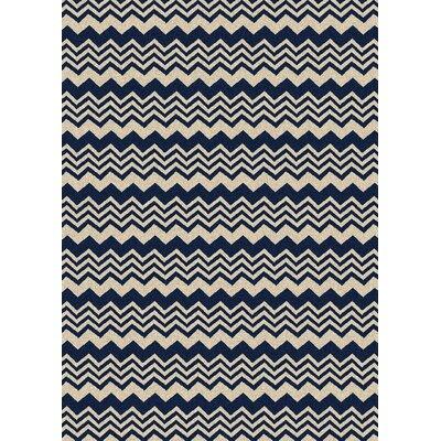 Hampton Navy/Cream Area Rug Rug Size: 33 x 411