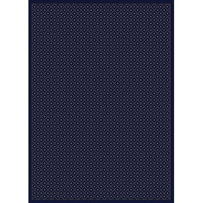 Colebrook Navy Blue Area Rug Rug Size: 55 x 77