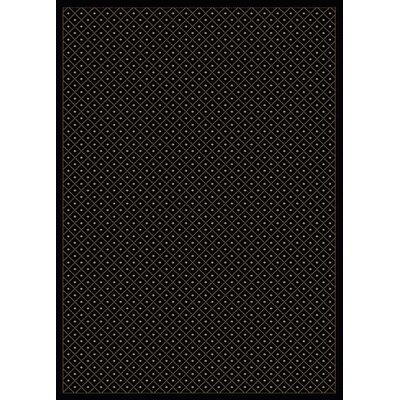 Colebrook Black Area Rug Rug Size: 55 x 77