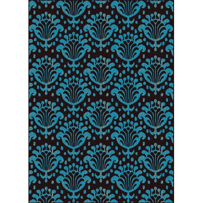 Franklin Blue/Black Area Rug Rug Size: 55 x 77