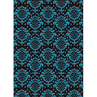 Franklin Blue/Black Area Rug Rug Size: Runner 22 x 77
