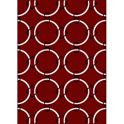 Franklin Red Area Rug Rug Size: Rectangle 55 x 77
