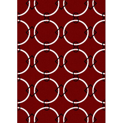 Franklin Red Area Rug Rug Size: Runner 22 x 77