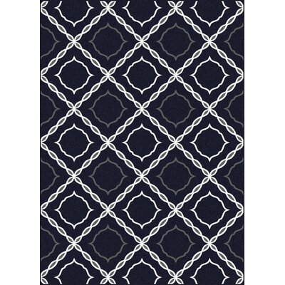Franklin Blue Area Rug Rug Size: 5'5