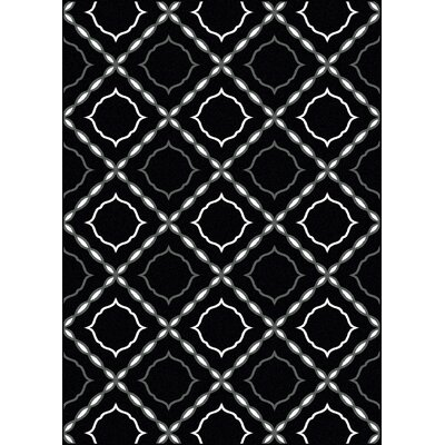 Franklin Black Area Rug Rug Size: 3'3