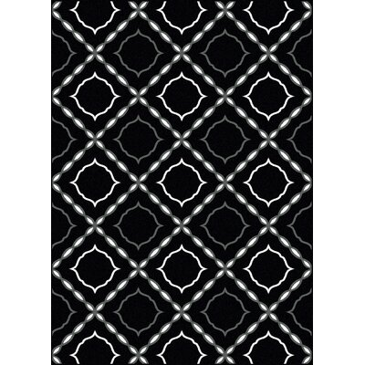 Franklin Black Area Rug Rug Size: Runner 22 x 77