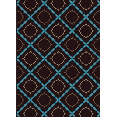 Franklin Brown Area Rug Rug Size: 5'5
