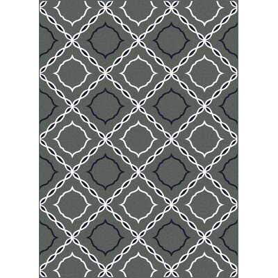 Franklin Grey Area Rug Rug Size: 5'5