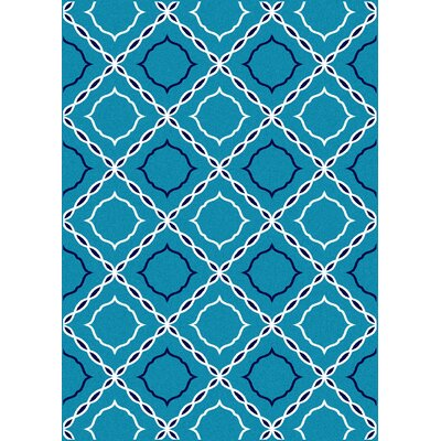 Franklin Turquoise Area Rug Rug Size: 33 x 411