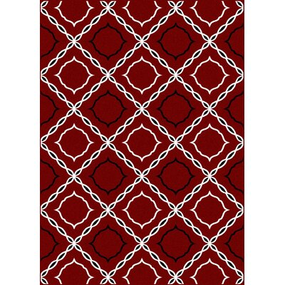 Franklin Red Area Rug Rug Size: 55 x 77